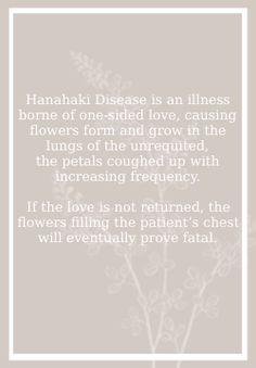 hanahaki disease