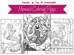Brynn Mermaid Coloring Pages Great For Kids Of All AgesAdult Books Anyone
