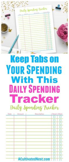 This printable budget planner will help you get your finances