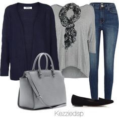 Navy and grey by kezziedsp on Polyvore featuring ONLY, Calvin Klein, River Island, Jigsaw and MICHAEL Michael Kors