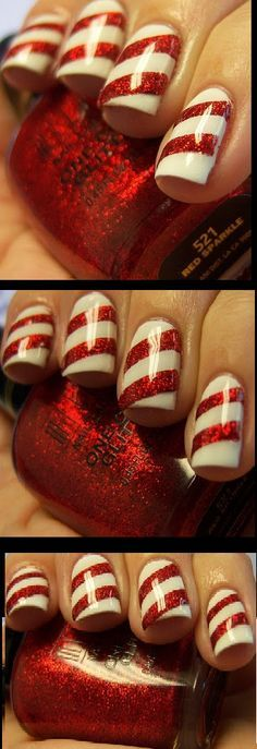 Winter christmas holiday nail art compilations meliney how to peppermint strip nails christmas nail design nail tutorial nail art mardi gras prinsesfo Gallery