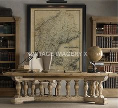 Coltons Old Louisiana Map Historic Map Antique Restoration - Restoration hardware paris map
