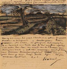 Cahier de brouillon — Vincent van Gogh (letters and drawings).