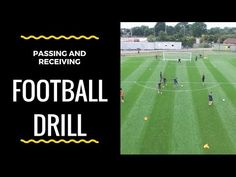 Football Training Drills - Passing & Receiving to Finish - YouTube
