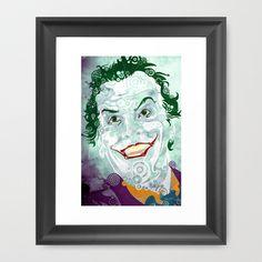 The Clown Prince 89 Framed Art Print by Joshua A. Biron - $30.00