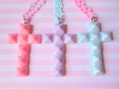 Hey, I found this really awesome Etsy listing at https://www.etsy.com/listing/158901652/pastel-goth-glitter-cross-necklace