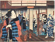 Kuniyoshi, Bando Shuji I as the Courtesan Shiraito