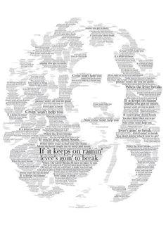 Stunning #RobertPlant fan art using the lyrics to When The Levee Breaks.