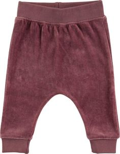 Soft, loose trousers in 'purple mist' velour, they have an elastic waist and wide cuffs at the legs and they are super cosy and comfortable. Happy Kids, Baby Shop, Cosy, Elastic Waist, Gym Shorts Womens, Kids Shop, Trousers, Legs, Purple