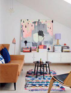Roundup-OversizedArt-9-Nynne-Rosenvinge #art #livingroom #contemporary
