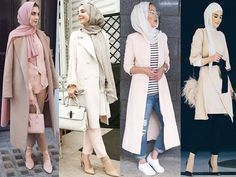 Fashion Arabic Style Illustration Description blush pink hijab looks- Eid hijab fashion looks www.justtrendygir… – Read More – Muslim Women Fashion, Arab Fashion, Islamic Fashion, Modest Outfits, Modest Fashion, Fashion Outfits, Modele Hijab, Hijab Trends, Casual Hijab Outfit