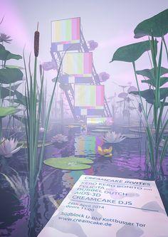 Creative Design, Kim, Laughton, and Picdit image ideas & inspiration on Designspiration Fantasy Landscape, Fantasy Art, Aesthetic Art, Aesthetic Pictures, Fuchs Illustration, Vaporwave Art, Galaxy Background, Weird Dreams, 3d Artwork