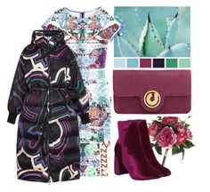 """""""Fuchsia + Teal"""" by cherieaustin ❤ liked on Polyvore featuring Mary Katrantzou, Charles Jourdan, Office and Emilio Pucci"""