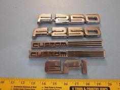 FORD F-250 CUSTOM EFI Used Factory CHROME Body Emblems