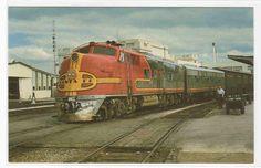 Santa Fe 12 The Chicagoan Railroad Train Dallas Texas postcard