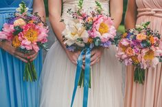 pretty peony bridal bouquet | www.onefabday.com | www.onefabday.com
