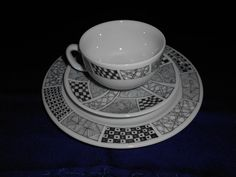 My 1st of 3 breakfast sets. Never done plates or cups before! Photo 1 of 2.