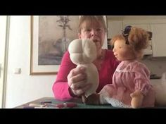 Waldorf doll felting a face part 2 - YouTube