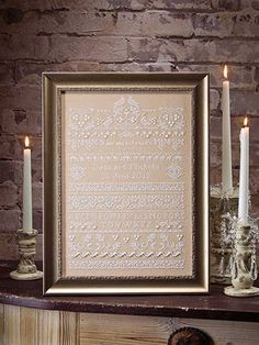 Cross-Stitch - Sampler Patterns - Spiritual Patterns - Wedding Sampler