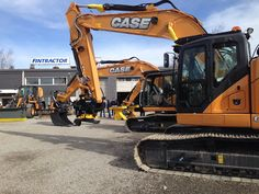 Case construction machines in Mansen Mörinät