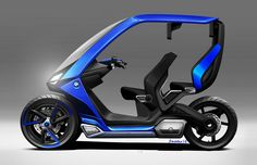 BMW concept by Jean-Thomas Mayer Electric Trike, Electric Cars, Moto Bike, Motorcycle Bike, Bmw C1, Design Transport, Velo Design, E Biker, Quad