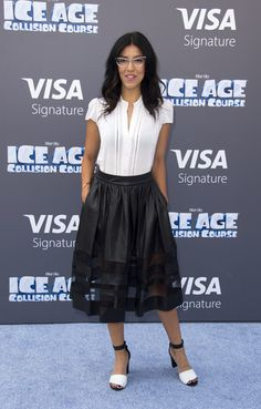 """Stephanie Beatriz Photos Photos - Actress Stephanie Beatriz arrives for the """"Ice Age: Collision Course"""" Friends and Family Screening at Fox Studios' Zanuck Theater in Los Angeles on July 16, 2016. / AFP / VALERIE MACON - Screening of 'Ice Age: Collision Course' - Arrivals"""