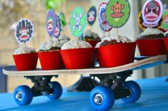 As if a Paul Frank birthday wasn't cool enough - I love the skateboard
