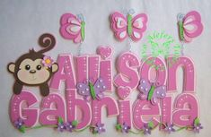 Banner en foami cumpleaños - Imagui Cute Alphabet, Alphabet Crafts, Foam Crafts, Diy And Crafts, Paper Crafts, Wood Letters, Letters And Numbers, Princess Nursery, Bubble Letters