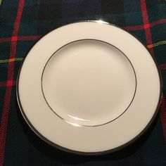"Lenox Montclair B501 Presidential Bread and Butter Plate w/Platinum Trim 6 3/8"" #Lenox"