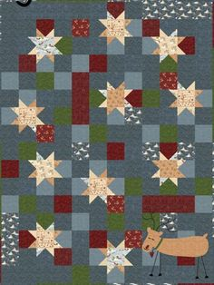 leave off the reindeer and it would be a cute scrappy pattern in any color way --free pattern