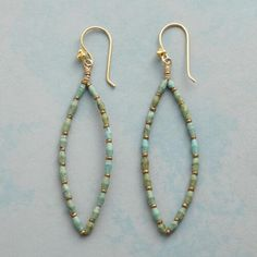 TURQUOISE TRACERY EARRINGS: View 1