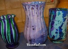 i needed some stress relief today so i spit inside some vases , crafts, Stress Relief 3 vases SPiT on the inside