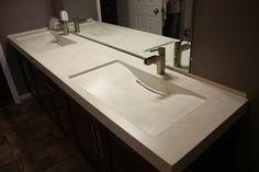 Concrete Double Mirage Sinks - contemporary - bathroom sinks - toronto - everGreen Cast Stone
