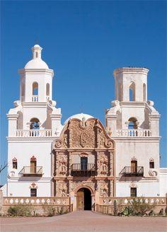 Tucson, Arizona - Mission San Xavier - Done! Us Travel, Places To Travel, Places To See, Travel Destinations, Arizona Travel, Tucson Arizona, Arizona Trip, Arizona Usa, Chapelle
