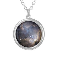 NGC 602 bright stars custom jewelry necklace