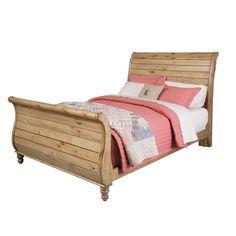 Kincaid Homecoming-Vintage Pine King Sleigh Bed