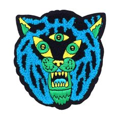 Three Eyed Tiger Chenille Patch by John F Malta from Valley Cruise Press