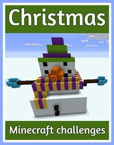 Christmas themed Minecraft challenges for children to keep them busy over the holidays, a lovely list of things that they can build in their Minecraft world Minecraft Blueprints, Cool Minecraft Houses, Minecraft Crafts, Minecraft Party, Minecraft Stuff, Minecraft Ideas, Christmas Activities, Christmas Themes, Activities For Kids