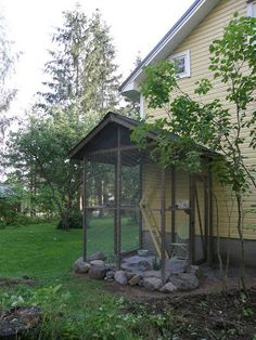 Varjoyrtin puutarha: Kissan ulkoiluaitaus