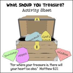 Treasure Chest and Gem Bible Activity Sheet from www. Treasure Chest and Gem Bible A Bible Story Crafts, Bible Crafts For Kids, Preschool Bible, Bible Lessons For Kids, Bible Activities, Youth Lessons, Kids Bible, Vbs Crafts, Bible Stories
