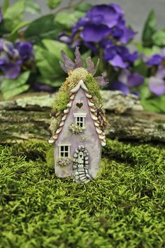 Country Plum Fairy Willow House 3 3/4 inches tall by FairyWillow
