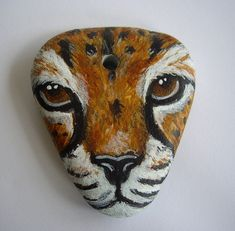 *Painted rock art.