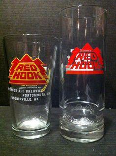 $5.99 Red Hook IPA ESB Beer Glasses 2 Pint Glasses 1 Tall 1 Short   eBay