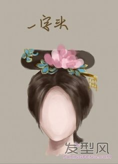 Chinese archaic time beauties' hair style