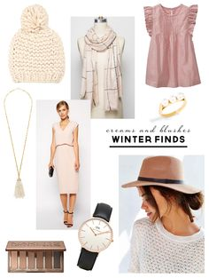 Winter Wardrobe Style Board   Creams & Blushes   PepperDesignBlog.com