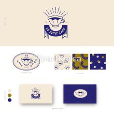 일러스트,빈티지,사람없음,세트,무늬,디자인,명함,카페,커피,리본,로고,홍보,엘리먼트,라벨,브랜딩,복고, 7 Logo, Typography Logo, Typography Design, Event Branding, Logo Branding, Branding Design, Logo Inspiration, Sweet Logo, Cafe Logo