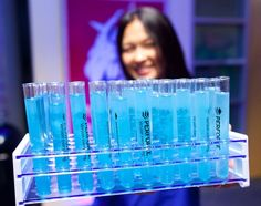 Blue test tube shots