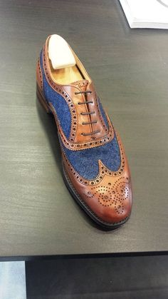 Unique men's two-tone #wingtips