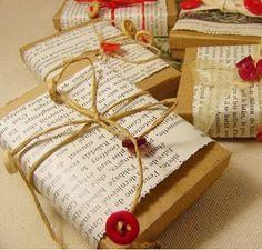 Envoltorios ecológicos para regalos de Navidad