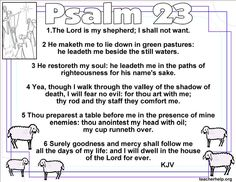 The Lord is my shepherd coloring page